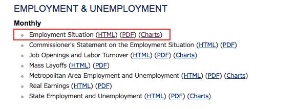 雇用統計のデータへのアクセス方法の画像2