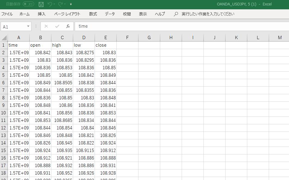TradingviewでデータをCSVファイルにエクスポートする方法