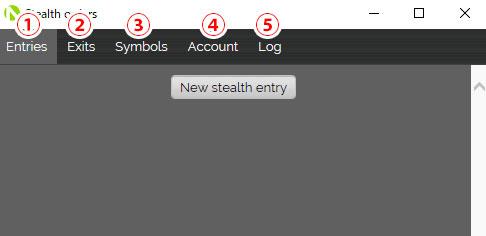 MT5(メタトレーダー5)用のOANDA Stealth Ordersのタブの紹介画像